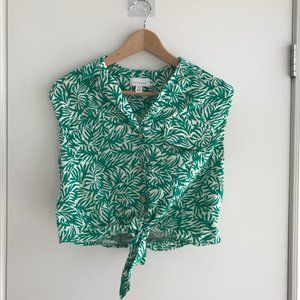 Topshop Knotted Crop Top
